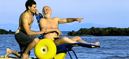JOB – La sedia da mare per disabili che può andare in acqua